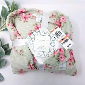 CHARTER CLUB Fleece Floral XXXL 2-Piece PJ Set NWT